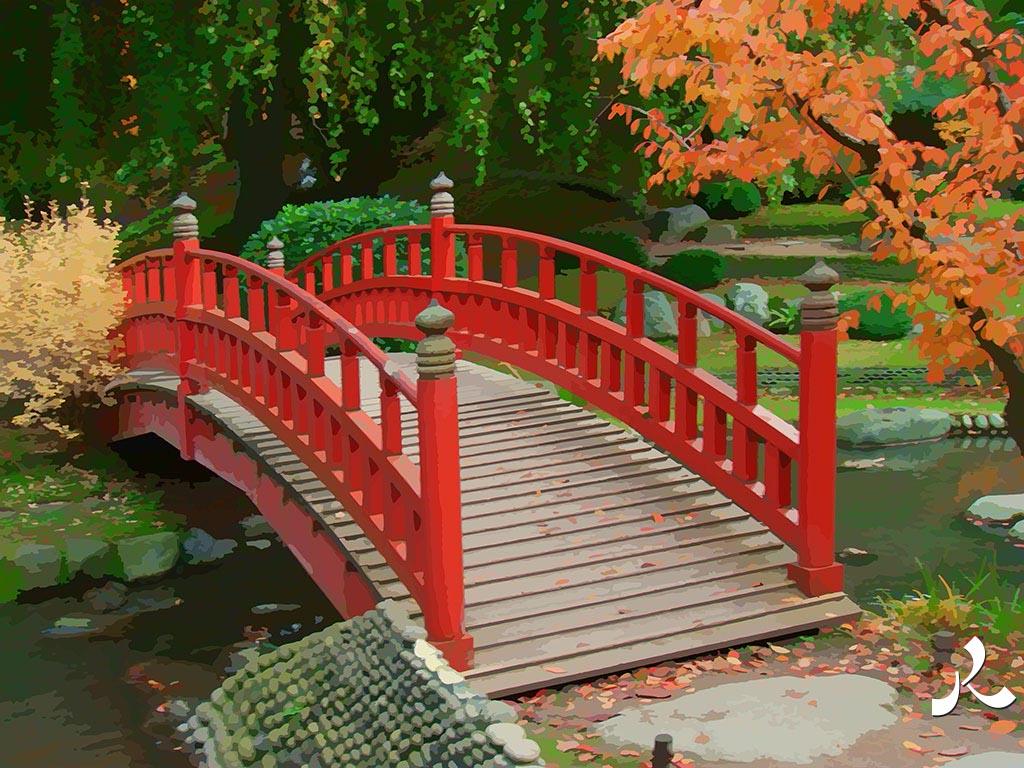 pont de jardin japonais. Black Bedroom Furniture Sets. Home Design Ideas